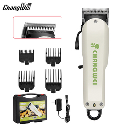 Cortadora de pelo Changwei para perros, cortadora de pelo para mascotas, motor de alta potencia, afeitadora de pelo de perro con hoja de acero fina chapada en cromo