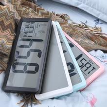 Настенные квадратные часы серии TXL, большие цифровые часы с будильником Jumbo 13,8 дюйма, ЖК дисплей, многофункциональные большие офисные украшения для стола