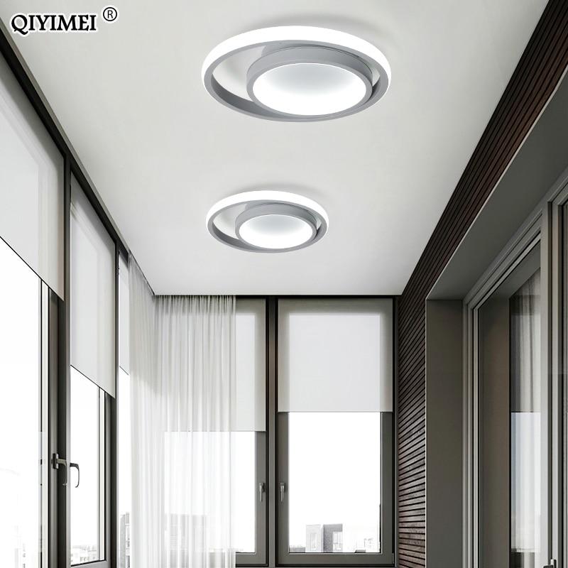Weiß Schwarz Grau Moderne Decke Lichter Balkon Korridor Lampe Fernbedienung Beleuchtung Kreative Gang Leuchte Luminaria Glanz