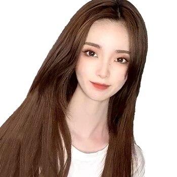 MUMUPI klip w syntetyczne doczepy do włosów przedłużanie włosów fałszywe halo exstention peruka kobiety brązowy rozszerzenie włosów topper dla kobiet