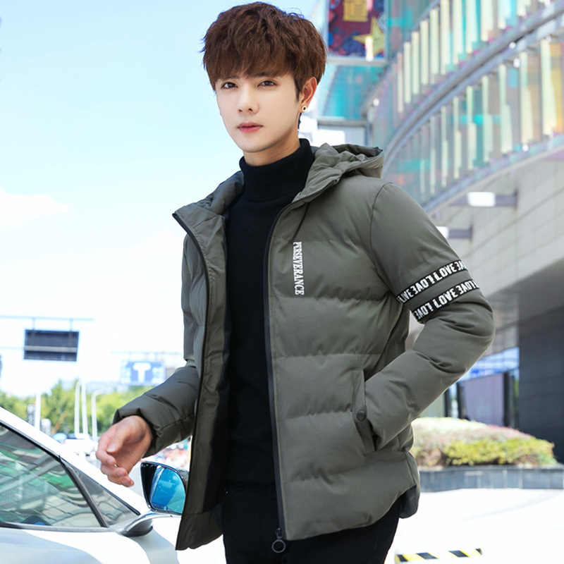 2019 New Winter White Duck Down Cotton Men's Warm Thick Quality Fleece Men's Winter Jacket