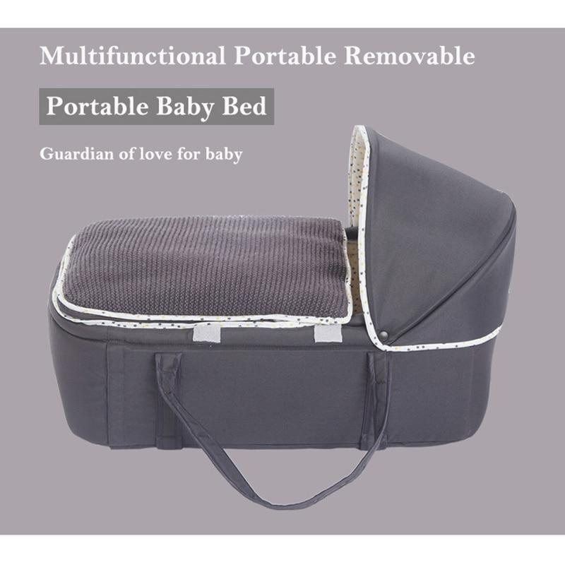 Infant Shining Portable Baby Bed Cradle Kid Bassinet Basket Multifunctional Movable Cot Cradle Comfortable Safety Travel Bed