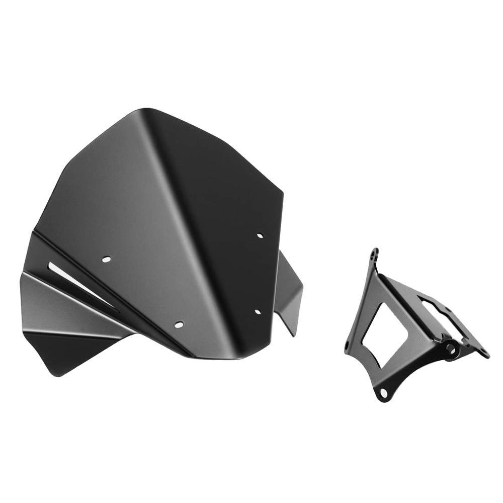 Zapatos de la motocicleta aleaci/ón de aluminio de Kickstand for Honda CB650R 2019-2020 Color : Black