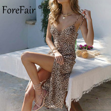 Forefair Leopard Party Dress 90S Festival Outfits Women Summer Fashion Vintage Midi Spaghetti Strap 18th Birthday Sexy Dress