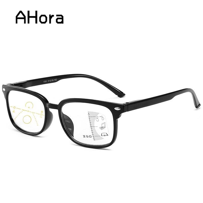 Ahora Reading Glasses Men Women Anti Blue Light Eyewear Glasses Smart Zoom Titanium Progressive Multifocal Presbyopia Eyeglasses