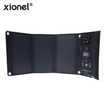 Xionel 21W pliable cellules solaires chargeur sac à dos Sunpower panneau solaire chargeur avec double Port USB pour téléphone portable batterie solaire