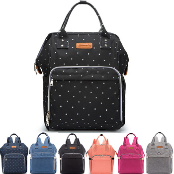 Polka Dots Mummy Maternity Nappy Bag Stroller Large Capacity Baby Bag Travel Backpack Designer Nursing Diaper Bag for Baby Care insular diaper bag backpack fashion mummy maternity nappy bag travel designer large capacity stroller baby bag for baby care