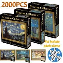 Quebra-cabeças 2000 peças pintura famosa do mundo, adulto, quebra-cabeças 2000, diy, brinquedos educativos
