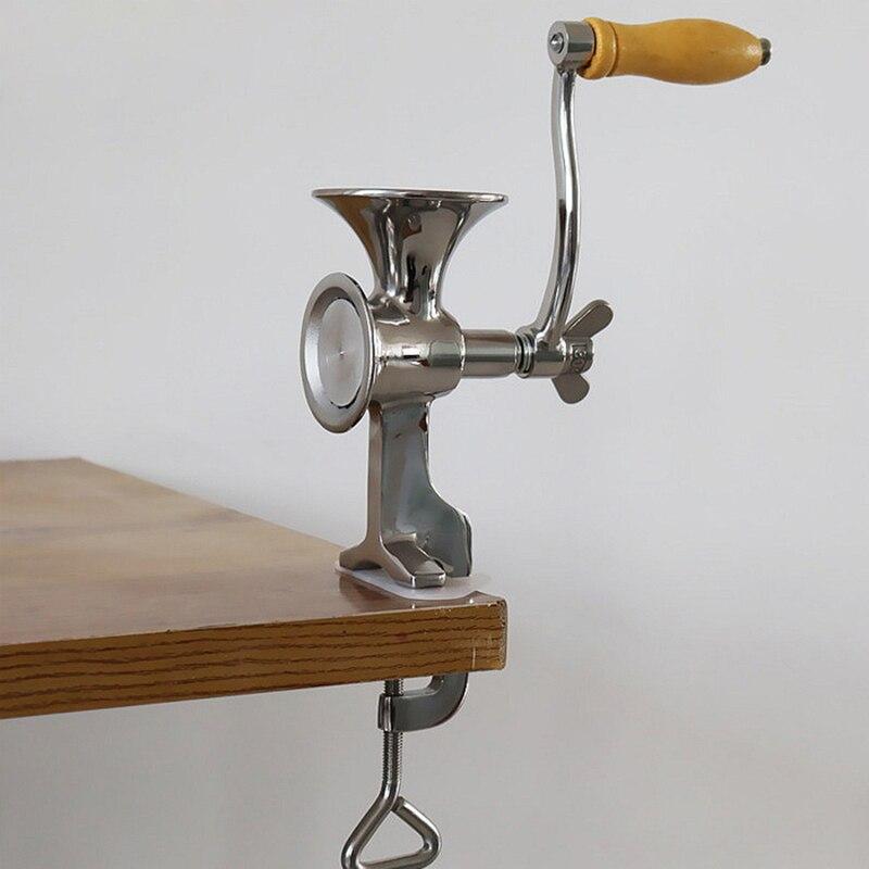 Qualité complète en acier inoxydable classique outil de cuisine manuel moulin à pavot Grain graines moulin à main moulin à noix et moulin à épices