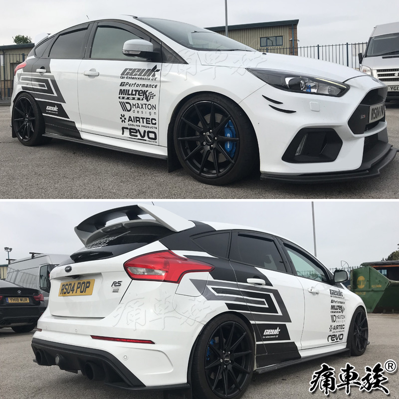 Car Stickers For Ford Focus 2018-2019 Focus Racing Car Decoration Modified Car Car Sticker Film Body Appearance