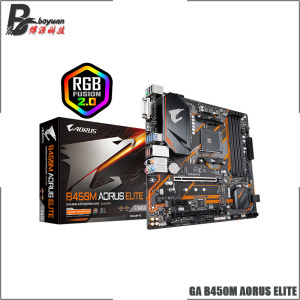 Gigabyte GA B450M AORUS ELITE AMD B450 /4-DDR4 DIMM /M.2 /USB3.1 /Micro-ATX /New / Max-64G Double Channel AM4 Motherboard