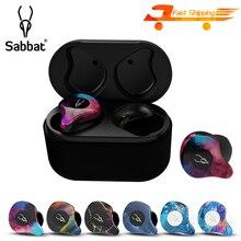Sabbat HIFI Stereo Bluetooth 5.0 Earphone IPX5 Waterproof Headphones Sport Mini Portable Headsets TW