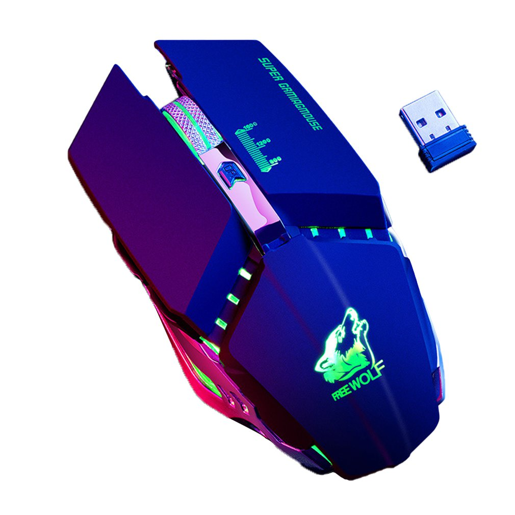 Wireless Mouse Optical Mouse Gaming Silent Usb Rechargeable Noiseless Mice Built-In Battery For Pc Laptop Computer
