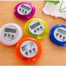 Compte à rebours numérique LCD circulaire, 5 types de couleurs, compteur de cuisine, minuterie inversée, réveil magnétique