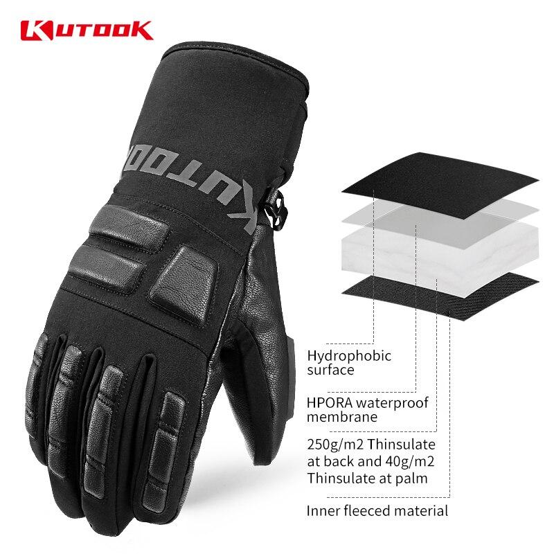 Kutake gants de Ski imperméables hommes hiver gants de Snowboard thermique coupe-vent femmes planche à neige gants de motoneige accessoires de Ski - 3