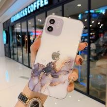 Marmurkowy futerał na telefon IPhone X XS XR 11 12 13 Mini Pro Max SE 2020 6 6S 7 8 Plus kolorowy obiektyw koło odporna na wstrząsy osłona ochronna tanie tanio HUIHUA APPLE CN (pochodzenie) Częściowo przysłonięte etui Zwykły