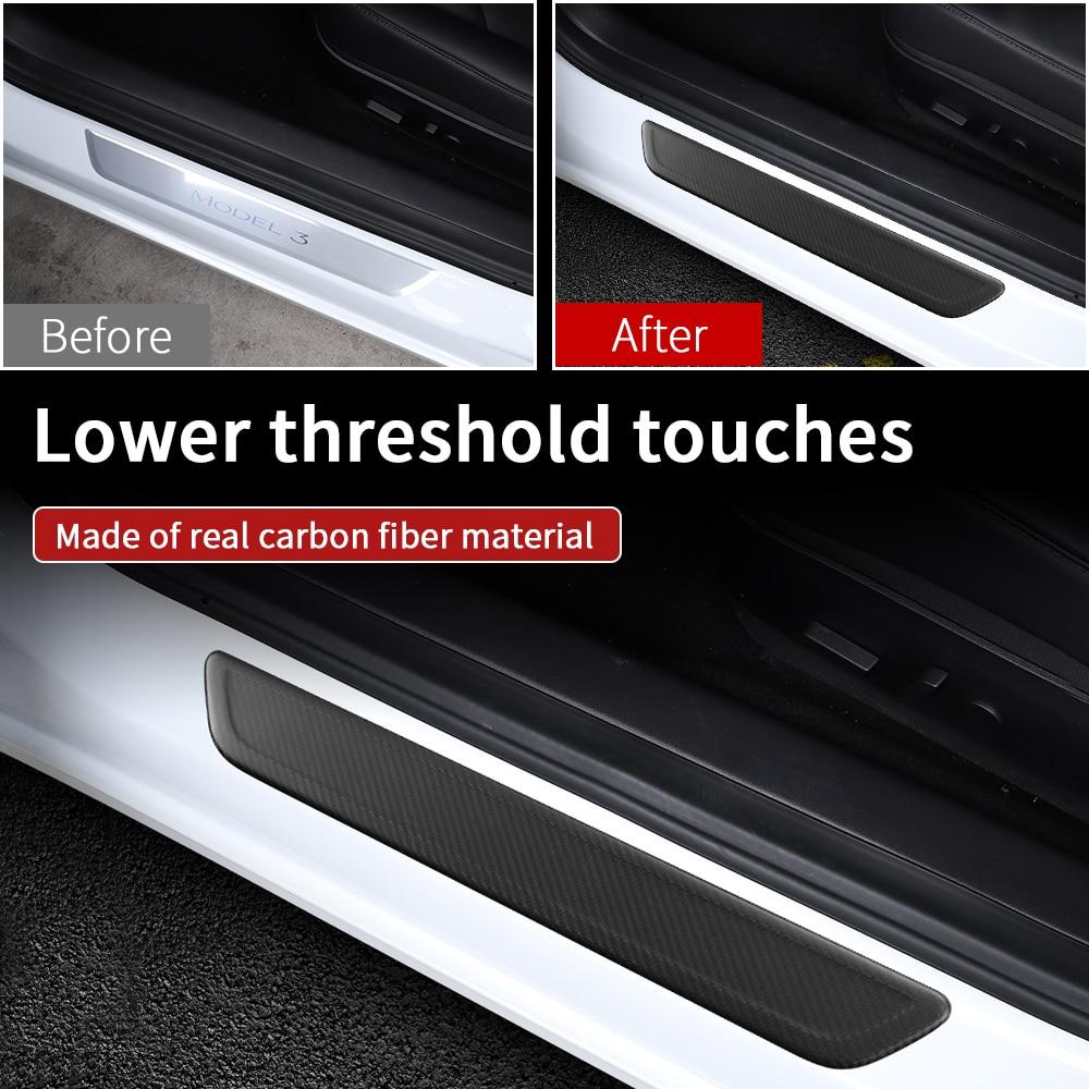 lowest price Interior matte carbon fiber for Tesla model 3 accessories car accessories model 3 tesla three tesla model 3 carbon accessoires