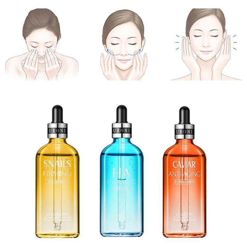 100ml Hyaluronic Acid Serum Facial Acido Hialuronico Face Moisturizer Serum Beauty Skin Bioaqua Hyaluronik Asit Serum W7B0