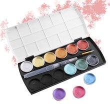 Для начинающих 12 цветов Твердые акварельные краски в наборе