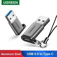 Ugreen USB C Adapter USB 3,0 Stecker auf USB Typ C Micro Weiblich Adapter für Laptop Samsung Xiaomi 10 Kopfhörer USB C zu USB Adapter