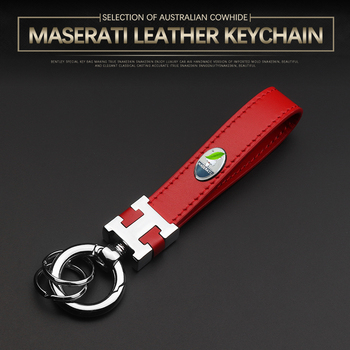 Dedicated to Maserati Keychain Levante Levante SUV Geberit Ghibli Key Ring Leather Stainless Steel Metal Leather Key Chain