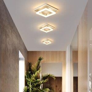 Image 2 - Oświetlenie ledowe żyrandol korytarz korytarz montowane na powierzchni akrylowa sufitowa podświetlenie 20W nowoczesna lampa nabłyszczania Lampadario AC85 260V