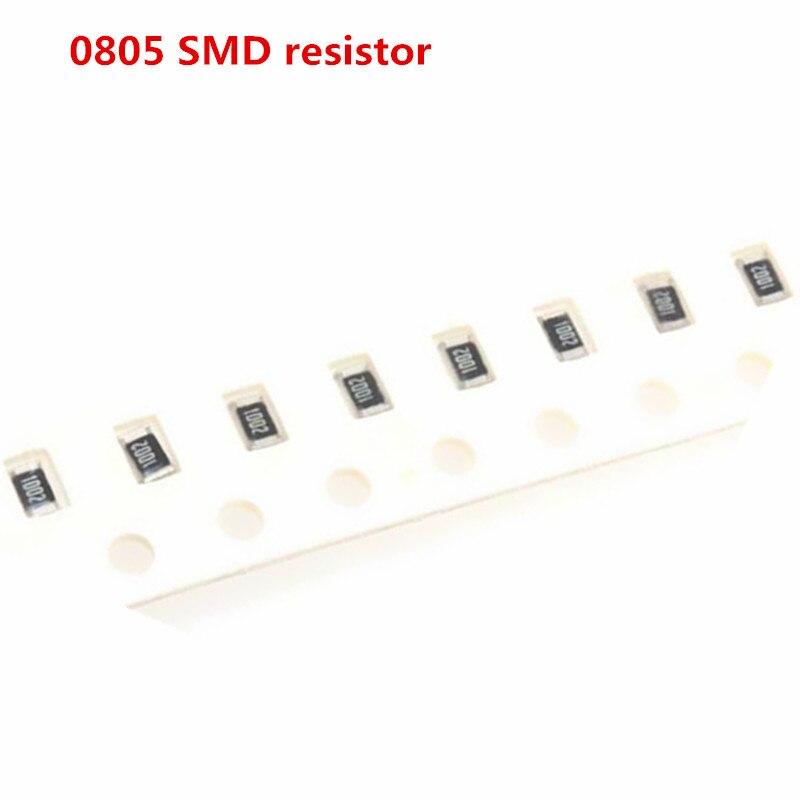 100 шт. 0805 5% 1/8 Вт резистор SMD чип 0R ~ 10M 0 1R 10R 100R 220R 330R 470R 47 10 1K 4,7 K 100K 1M 10M 0 1 10 100 330 470 Ом