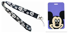 Retail 1 pcs cartoon mickey Named Card Holder Identity Badge with Lanyard Neck Strap Card Bus ID Holders With Key Chain(China)