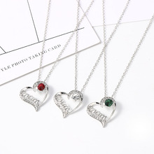 2020 Letter Mom Heart Inlaid Zircon Necklace for Women Mother's Birthday Choker Chain Necklace Women Gold Color Pendant Jewelry korean real 24k gold necklace pendant for women gold jewelry lucky fish pendant chain necklace choker anniversary birthday gifts