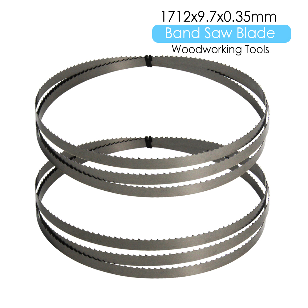 "2pcs 67-3/8"" Inch 1712 X 9.7 X 0.35mm Bandsaw Blade Power Tool Accessories TPI 6 For METABO Charnwood W715 Wood Metal Cutting"