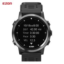 Ezon r3 relógio digital inteligente, relógio esportivo com monitor de frequência cardíaca, para corrida, ciclismo, áreas externas, gps