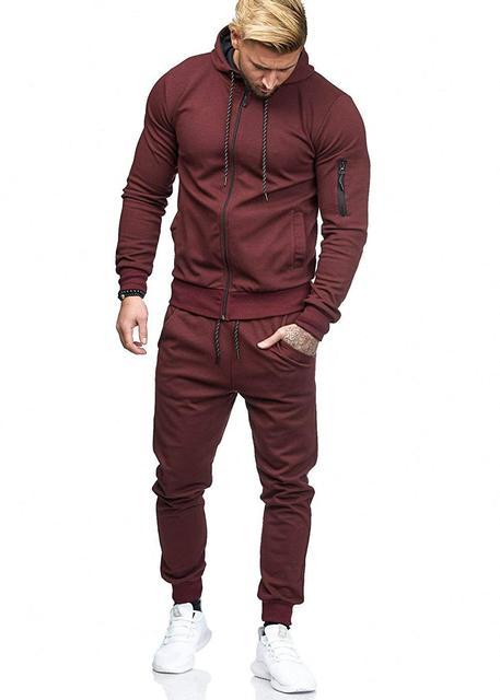 Фото мужская хлопковая толстовка на молнии + штаны комплект из 2 цена