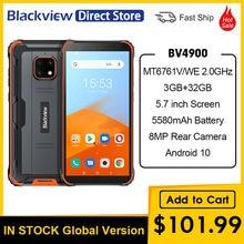 Blackview – Smartphone BV4900, téléphone robuste et étanche, Android 10, 3 go de RAM, 32 go de ROM, IP68, 5580mAh, 5.7 pouces, NFC