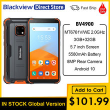 Blackview-teléfono inteligente BV4900, teléfono móvil resistente al agua con Android 10 os, 3GB RAM, 32GB ROM, IP68, batería de 5580mAh, pantalla de 5,7 pulgadas, soporta NFC