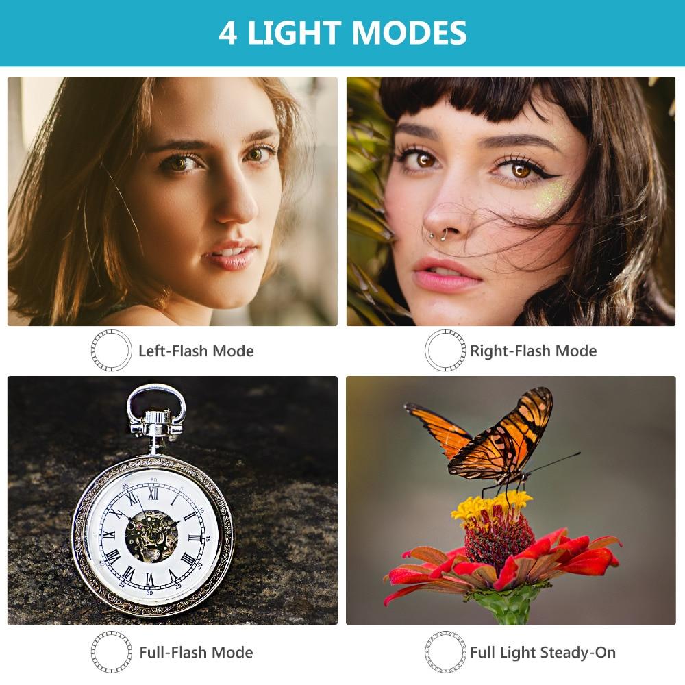 MAMEN 48 Macro LED Ring Flash Light With 9 Adapter Ring For Nikon Canon Pentax Olympus Panasonic Camera DSLR Ring Flash Kit 3