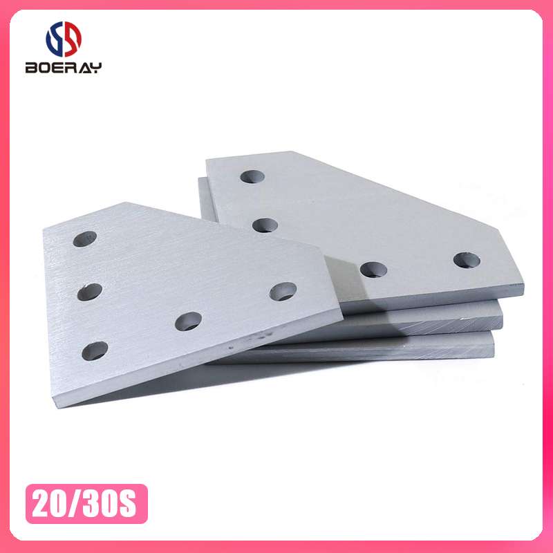5 Hole <font><b>2020</b></font> 3030 Bracket 90 Degree Joint Board <font><b>Plate</b></font> <font><b>Corner</b></font> Angle Bracket Connection Joint Strip for Aluminum Profile image