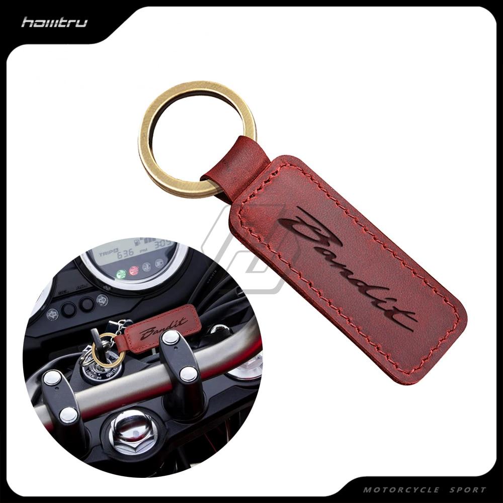 Мотоцикл брелок из коровьей кожи кольцо для ключей подходит для Suzuki Bandit 150 400 1200 1250 1250S ключ