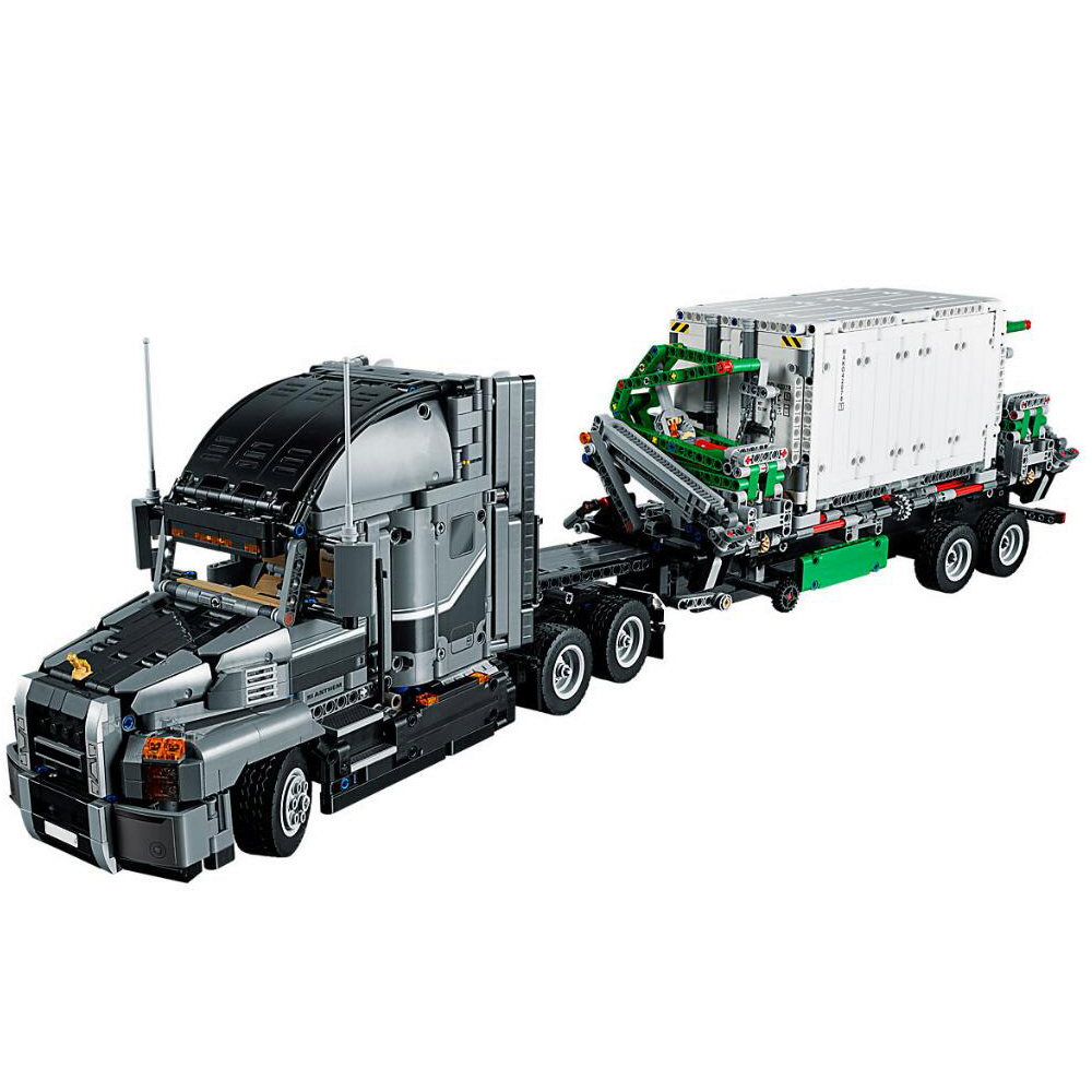 2907pcs Science And Technology Series Green Truck  Children Alpinia Oxyphylla Building Blocks Toys 20076