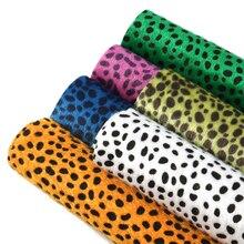 Earring Faux-Leather for DIY Handmade Bowknot Velvet Leopard-Printed 1yc8299 6pcs 20--34cm