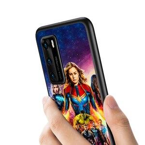 Image 5 - Marvel Avengers için P40 P30 P20 Pro P10 P9 P8 Lite RU E Mini artı 2019 2017 siyah telefon kılıfı