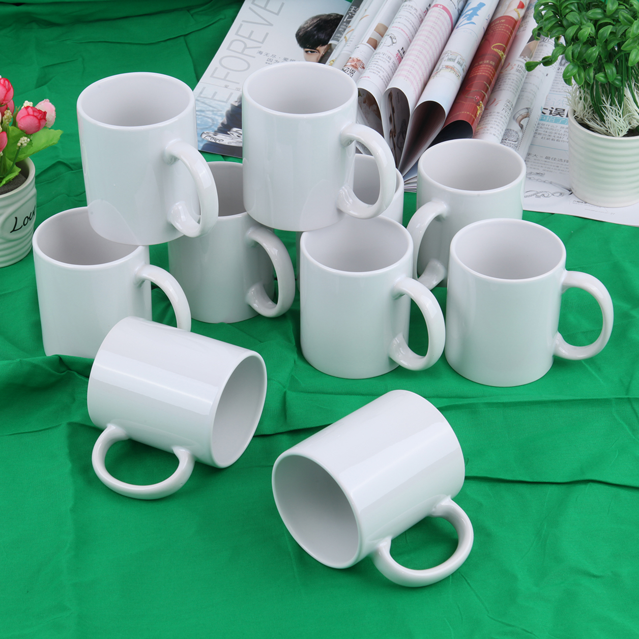 36pcs Sublimation Mug 11oz Coated DIY Heat Transfer Print White Cups Mugs