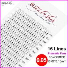 Snelle Verzending 0.07/0.10 Mm 16 Lijnen Premade Volume Fans 3d/4d/5d/6d Wimper Extensions pre Gemaakt Russische Volume Lash Extensions