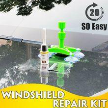 Windshield Car Window Glass Crack Repair Glue Kit Quick Fix DIY Car Windscreen Recovery DIY Tool Bullseye Rock Chip