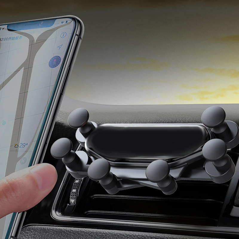 Universal Car Phone Holder For iPhone XS Max Samsung Huawei Xiaomi Car Stand Air Vent Mount Support Gravity Mobile Phone Holders