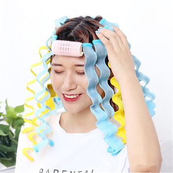 12pcs DIY Magic Hair Curler 30CM Hairstyle Roller Sticks Heatless Hair Rollers Curlers Wave Formers Curling Hair Styling Tools 1