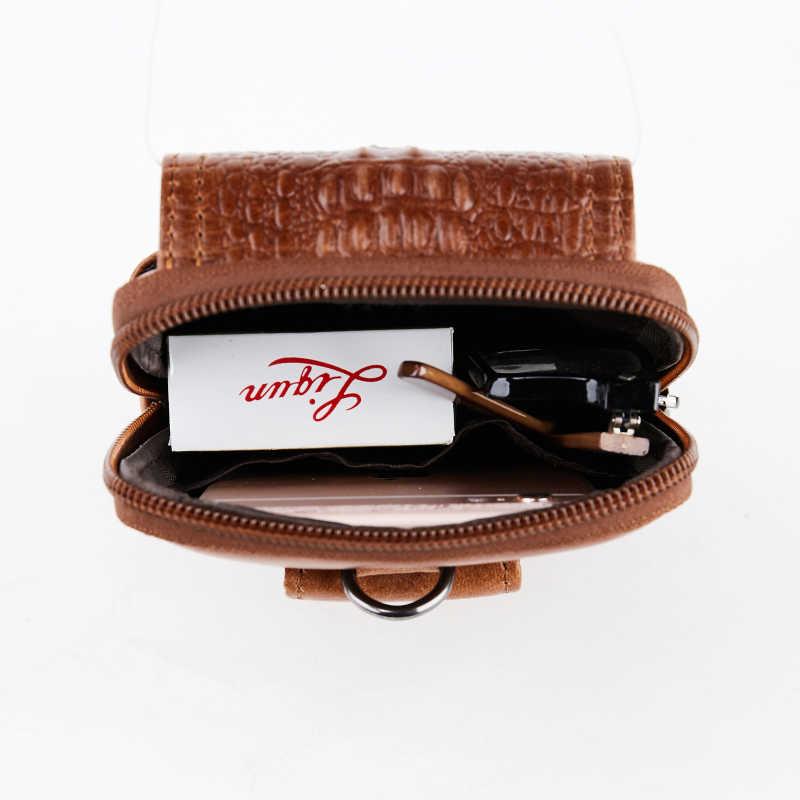 Echtes Leder Vintage Taille Packs Männer gürtel Reise Designer Fanny-Pack Gürtel Bum Tasche Taille Tasche Handy Beutel 6 zoll Hüfte tasche