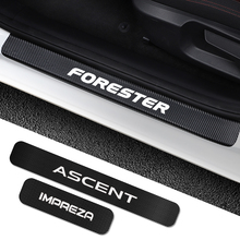 Для Subaru Forester Impreza XV Ascent Legacy BRZ Outback WRX 4 шт. наклейки на пороги автомобиля порог протектор тюнинг аксессуары