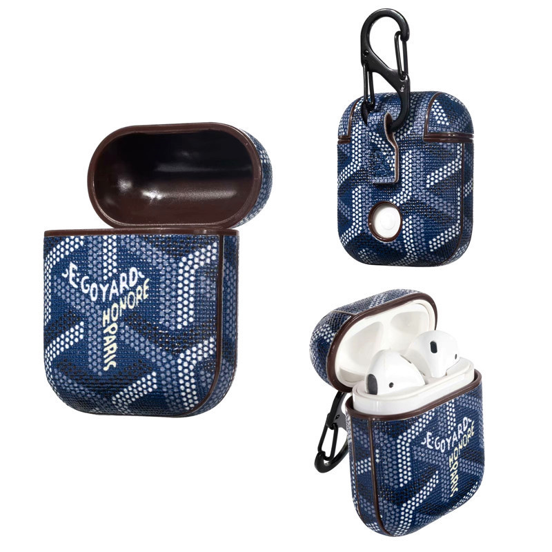 Suitable For AirPods Wireless Bluetooth Headset PU Leather Protective Case Lagging Goya Series YH