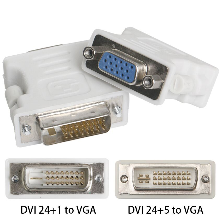 <font><b>DVI</b></font> 24+1 <font><b>DVI</b></font> 24+5 male <font><b>to</b></font> <font><b>VGA</b></font> female adapter <font><b>adaptor</b></font> <font><b>DVI</b></font>-D <font><b>DVI</b></font>-I <font><b>DVI</b></font>-A free shipping image