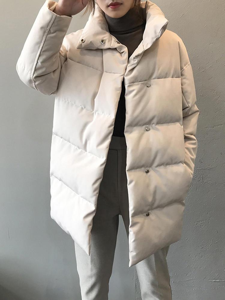Woman Parkas Clothing Winter Coat Beige Warm Black Long Plus-Size Casual Fashion Cotton